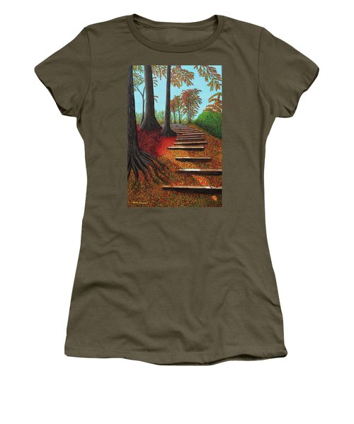 Almost There Women's T-Shirt (Junior Cut) by Donna Manaraze