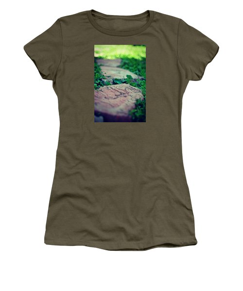 Stepping Stones Women's T-Shirt (Junior Cut) by Artists With Autism Inc