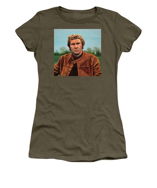 Steve Mcqueen Painting Women's T-Shirt