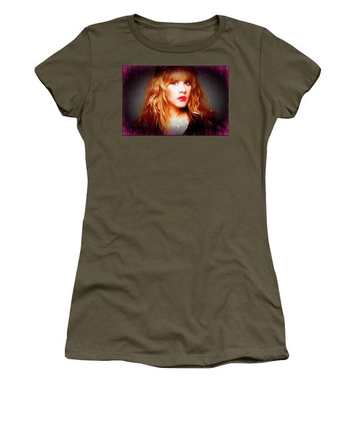 Stevie Nicks Drawing Women's T-Shirt (Athletic Fit)