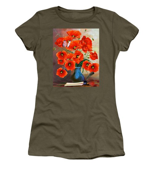 Still Life Poppies Women's T-Shirt