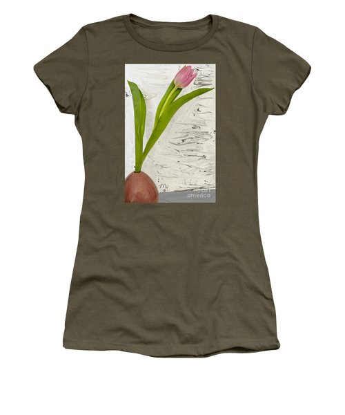 Still Life Tulip Women's T-Shirt (Junior Cut) by Marsha Heiken
