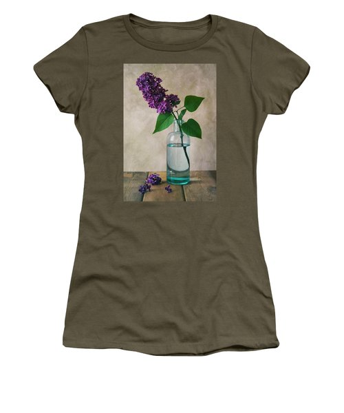 Women's T-Shirt (Junior Cut) featuring the photograph Still Life With Fresh Lilac by Jaroslaw Blaminsky