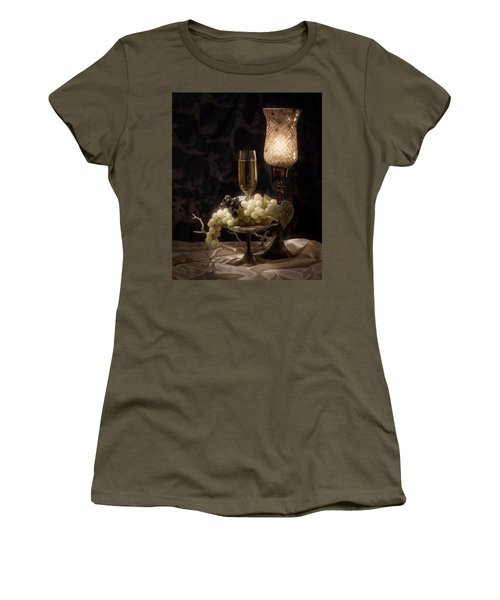 Still Life With Wine And Grapes Women's T-Shirt