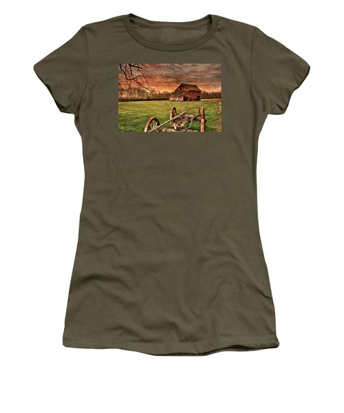 Women's T-Shirt featuring the photograph Still Standing by Andrea Platt