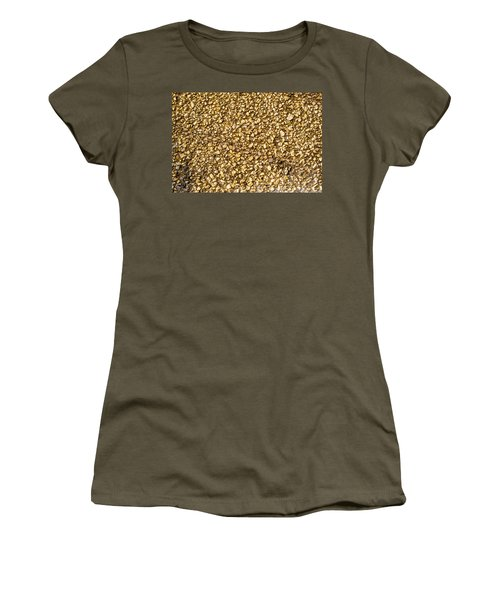 Women's T-Shirt (Junior Cut) featuring the photograph Stone Chip On A Wall by John Williams