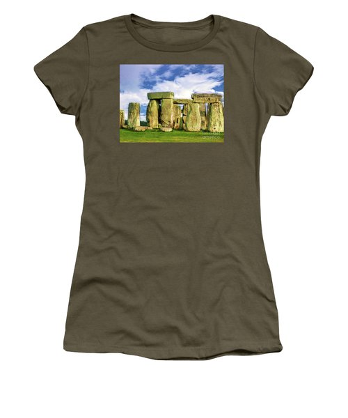 Stonehenge Women's T-Shirt (Junior Cut) by Judi Bagwell