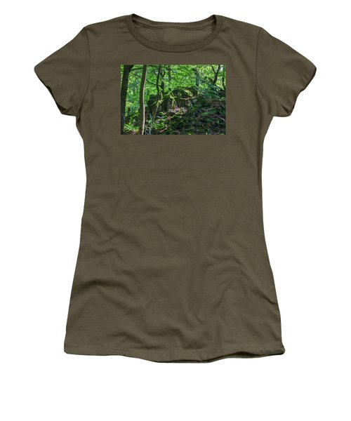 Stones In A Forest In Vogelsberg Women's T-Shirt