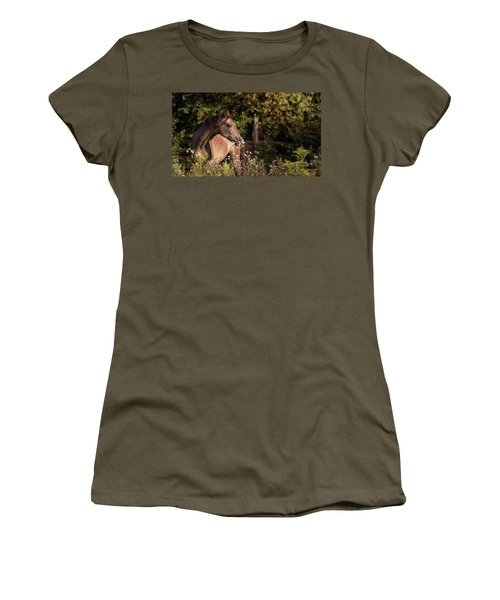 Stop And Smell The Flowers Women's T-Shirt (Athletic Fit)