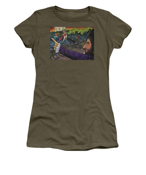 Stopping The Pirate Women's T-Shirt (Athletic Fit)
