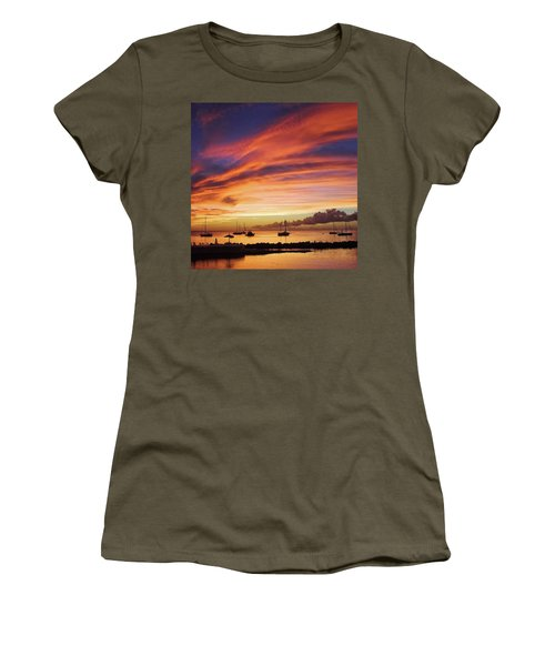 Store Bay, Tobago At Sunset #view Women's T-Shirt