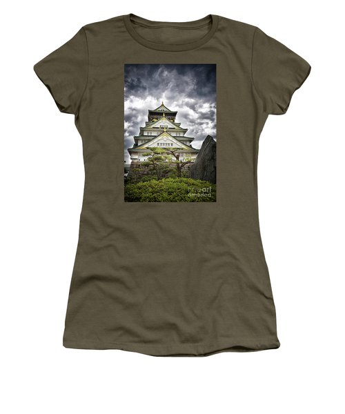 Storm Over Osaka Castle Women's T-Shirt (Athletic Fit)