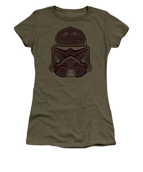 Stormtrooper Helmet - Star Wars Art - Brown  Women's T-Shirt