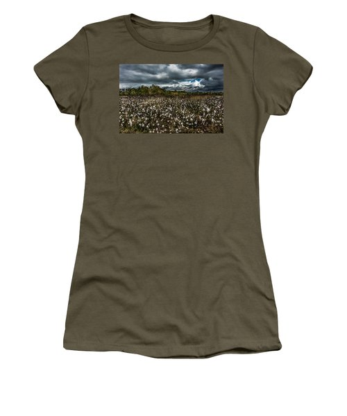 Stormy Cotton Field Women's T-Shirt