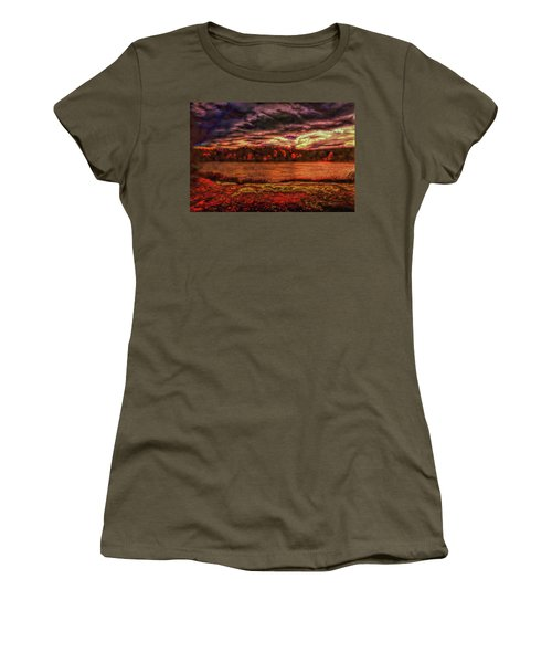 Women's T-Shirt (Athletic Fit) featuring the photograph Stormy Weather by John M Bailey
