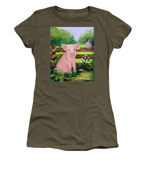 Storybook Pig Women's T-Shirt (Athletic Fit)