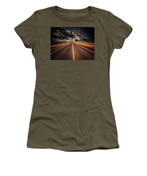 Straight Lines  ... Women's T-Shirt (Junior Cut) by Chuck Caramella