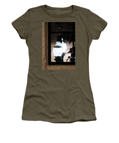 Women's T-Shirt (Junior Cut) featuring the photograph Street Light Through Window by Viktor Savchenko