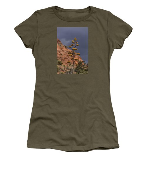 Stretching Into A Threatening Sky Women's T-Shirt (Junior Cut) by Laura Pratt