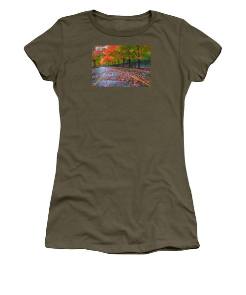 Women's T-Shirt (Junior Cut) featuring the photograph Sugar Maple Drive by Ken Stanback