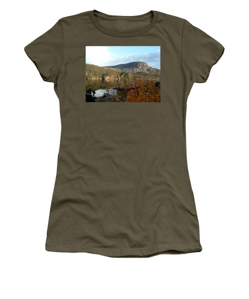 Women's T-Shirt (Junior Cut) featuring the photograph Sugarloaf Hill In Autumn by Barbara Griffin