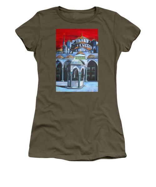 Sultan Ahmed Mosque Istanbul Women's T-Shirt (Athletic Fit)