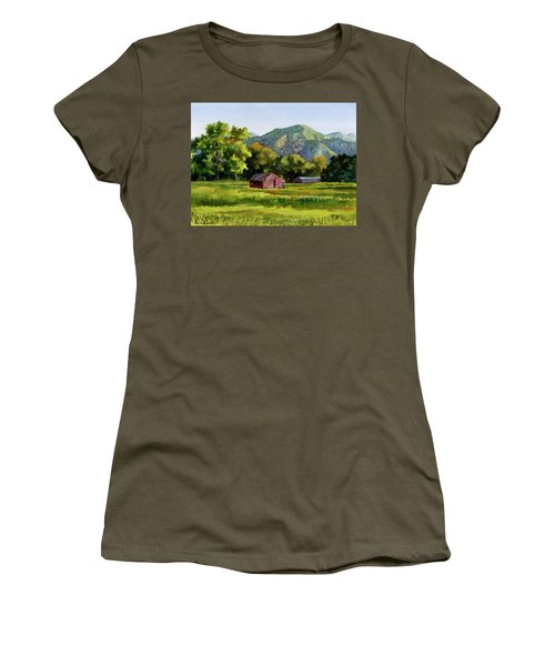 Women's T-Shirt (Junior Cut) featuring the painting Summer Evening by Anne Gifford