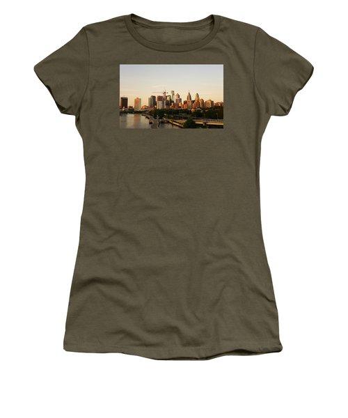 Summer Evening In Philadelphia Women's T-Shirt (Junior Cut) by Ed Sweeney