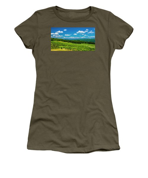 Women's T-Shirt (Junior Cut) featuring the photograph Summer Fields by Steven Ainsworth