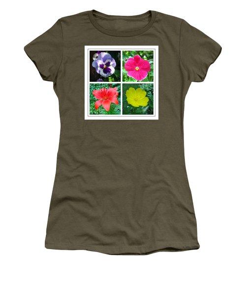 Summer Flowers Window Women's T-Shirt (Junior Cut) by Maciek Froncisz