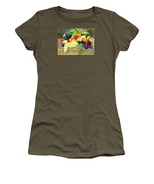 Women's T-Shirt (Junior Cut) featuring the painting Summer Harvest by Sharon Mick