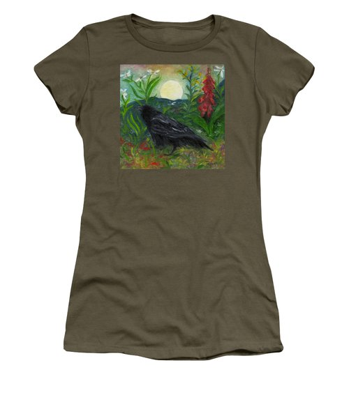 Summer Moon Raven Women's T-Shirt