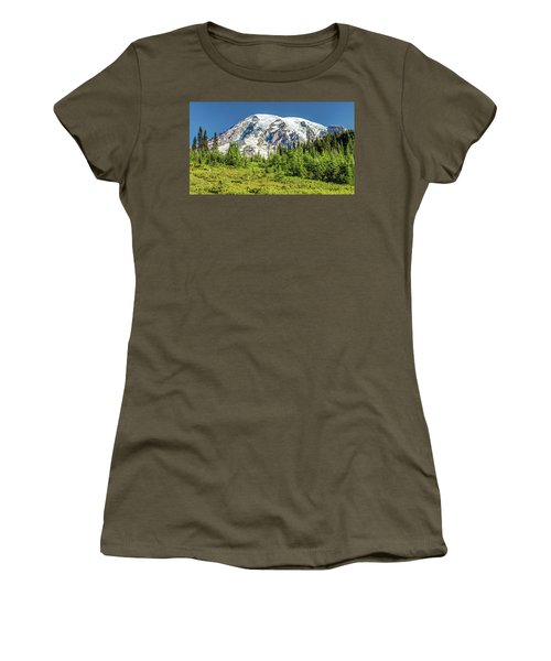 Women's T-Shirt featuring the photograph Summer On Mount Rainier by Pierre Leclerc Photography