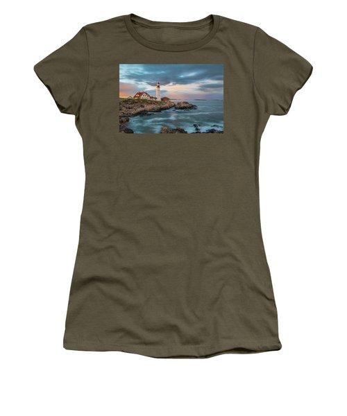 Summer Sunset At Portland Head Light Women's T-Shirt