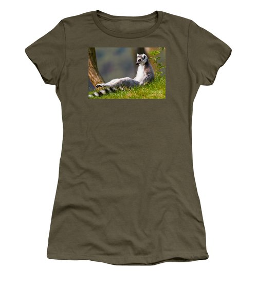 Sun Bathing Ring-tailed Lemur  Women's T-Shirt