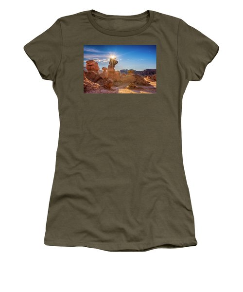 Sun Dog Women's T-Shirt (Athletic Fit)