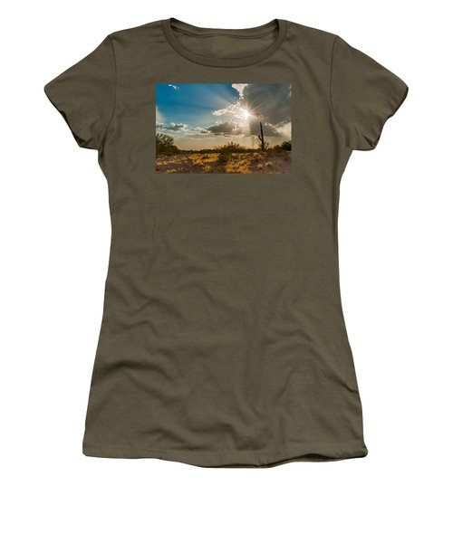 Women's T-Shirt featuring the photograph Sun Rays In Tucson by Dan McManus