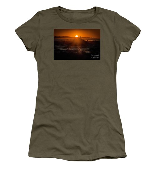 Sun Setting Behind Santa Cruz Island Women's T-Shirt (Junior Cut) by John A Rodriguez