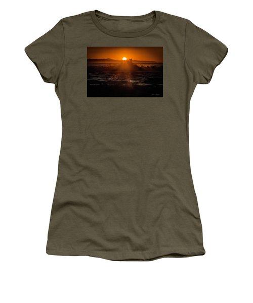 Sun Setting Behind Santa Cruz Island Women's T-Shirt