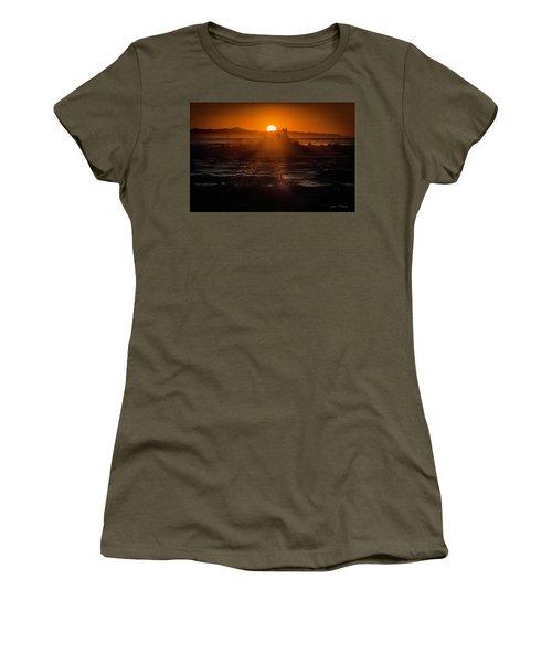Sun Setting Behind Santa Cruz Island Women's T-Shirt (Athletic Fit)