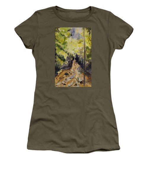 Sun Shines Through Women's T-Shirt (Athletic Fit)