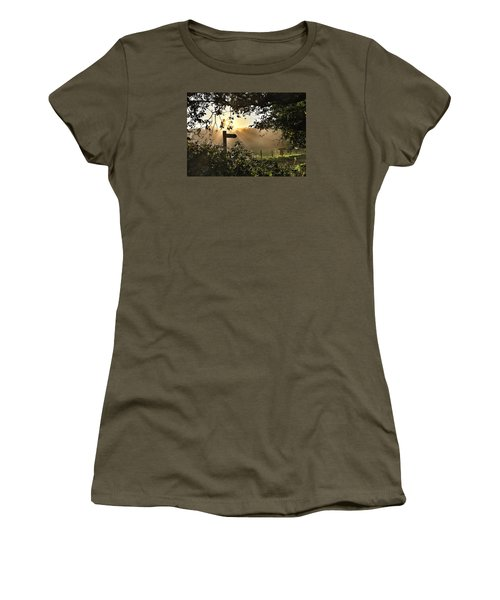 Women's T-Shirt (Junior Cut) featuring the photograph Sun Sign by RKAB Works