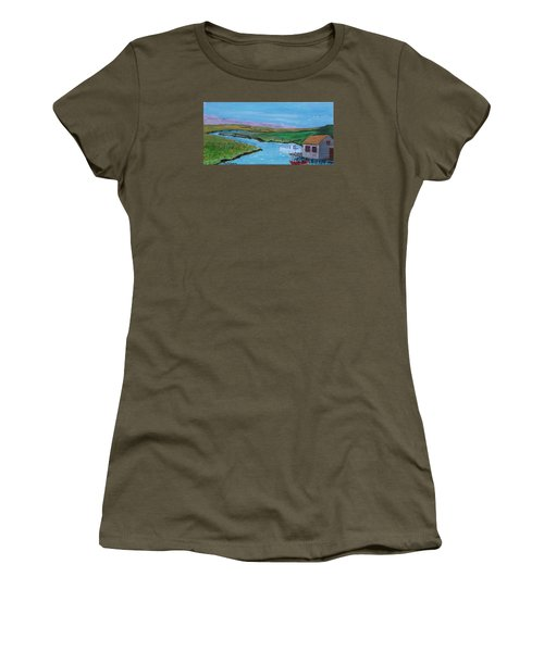 Sunday Afternoon On The California Delta Women's T-Shirt (Junior Cut) by Mike Caitham