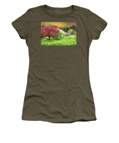 Women's T-Shirt (Junior Cut) featuring the photograph Sunday My Day by Diana Angstadt