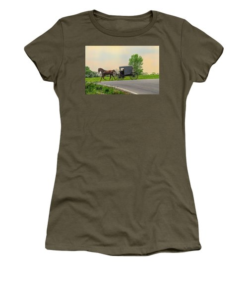 Sunday Ride At Sunset On Ronks Road Women's T-Shirt (Athletic Fit)