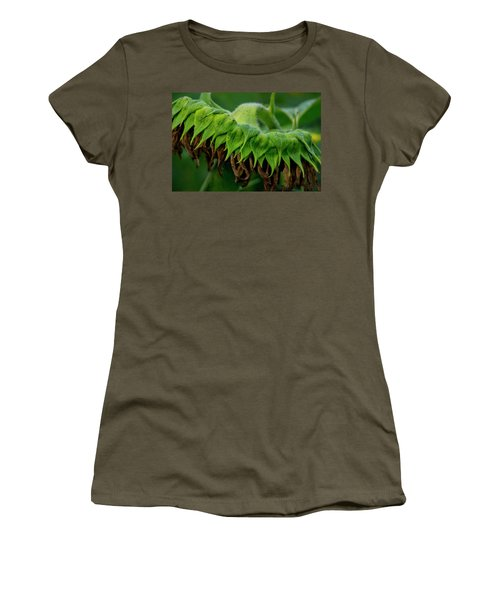 Women's T-Shirt (Athletic Fit) featuring the photograph Sunflower 2017 1 by Buddy Scott