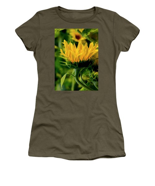 Women's T-Shirt (Athletic Fit) featuring the photograph Sunflower 2017 13 by Buddy Scott