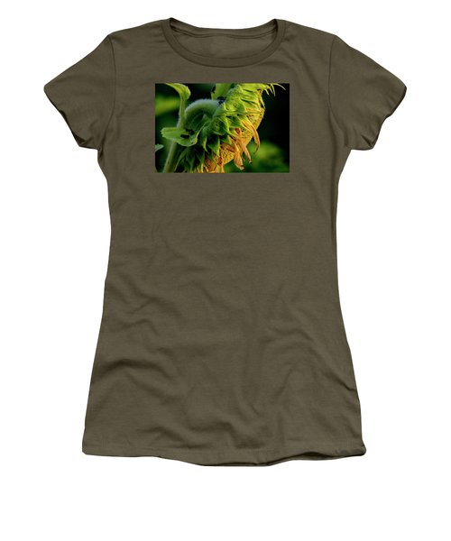 Women's T-Shirt (Athletic Fit) featuring the photograph Sunflower 2017 14 by Buddy Scott