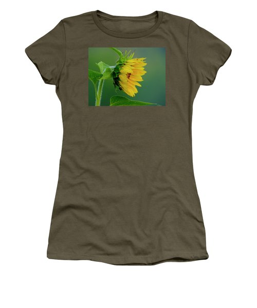 Women's T-Shirt (Athletic Fit) featuring the photograph Sunflower 2017 2 by Buddy Scott