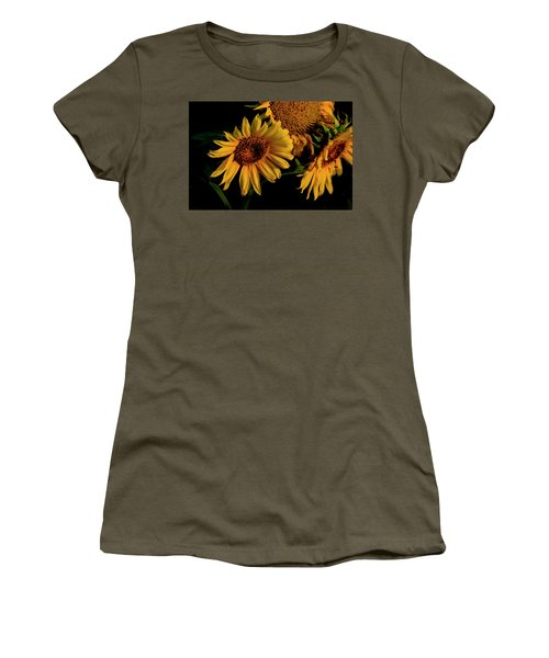 Women's T-Shirt (Athletic Fit) featuring the photograph Sunflower 2017 7 by Buddy Scott